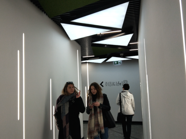 recessed slim LED profile in Slovakia corridor
