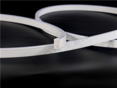W12*H21.4mm APT 025F Flexible PMMA extrusion profile (Side view)